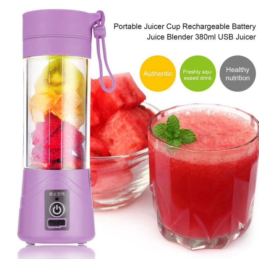 380ml USB Mini Portable 1 minute Juicer Bottle Juice Blender Lemon vegetables fruit Squeezers Reamers Bottle Drop Shipping