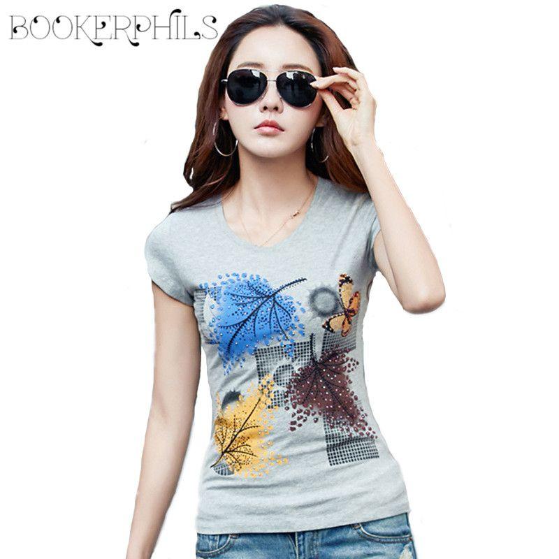 2018 New Summer T-shirts Pour Femmes Tops O-cou Femelle T-shirt Plus la Taille Court Occasionnel t-shirt S-4XL Blanc/Gris