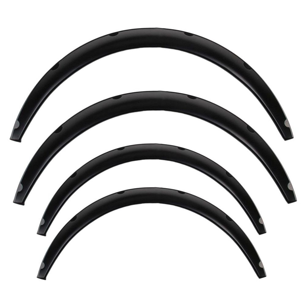 4 pcs Universal Car Auto Fender Flares Arch Wheel Eyebrow Protecting Mudguards Sticker PU Car Modification Accessory
