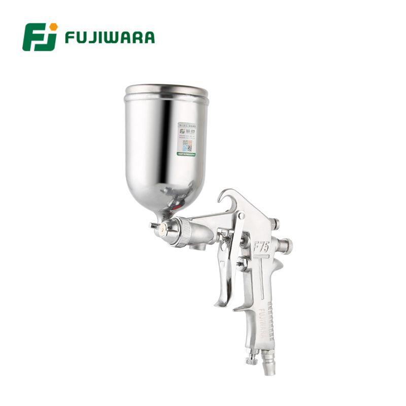 FUJIWARA F-75 Pneumatic Spray Lacquer Gun 1.5mm Caliber 400ml/750ml Capacity High Pressure Spray Gun