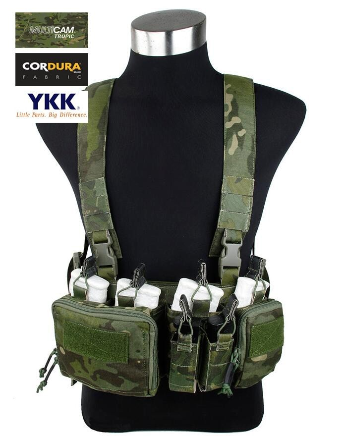 Multicam Tropic 7.62 Chest Rig Airsoft Military Light Strategic Chest Rig Tactical Gear(STG050815)