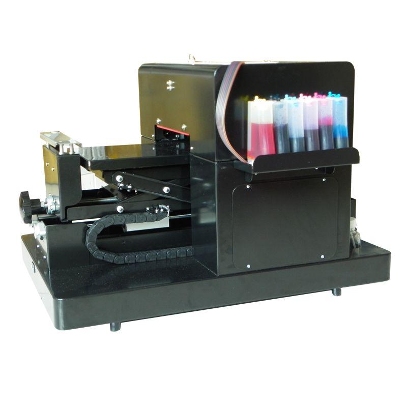 2017 neue Verbesserte A4 Flachbettdrucker für Print T shirt Telefon Fall Stift mit Hoher qualität A4 größe uv-flachbettdrucker
