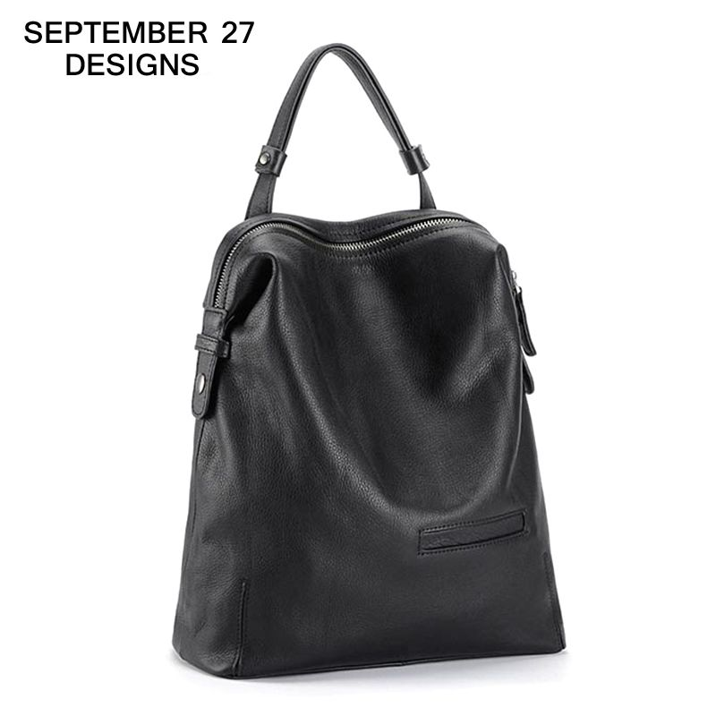 Backpack Women Large Capacity High Quality Top Cow Leather School Shoulder bag Youth Girls Fashion Knapsack Female Travel Bag