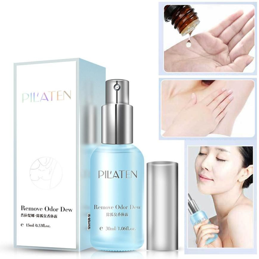 PILATEN Remove Underarm Armpit Refresh Body Feet Odor Dew Deodorant Antiperspirant 30ml perfect purify the odor 2017 Anne