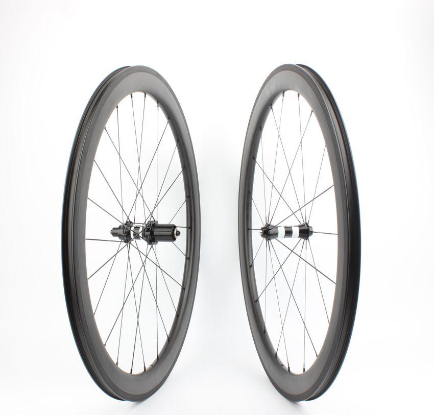 Tubeless Farsports FSC50-CM-25 DT350 hub no outer spoke hole 50 carbon wheel,road 700c bike tubeless clincher rim wheelset