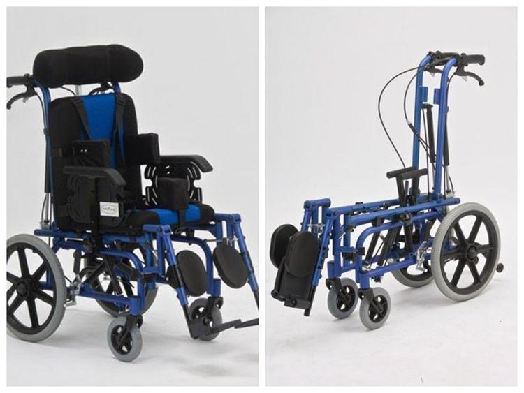 Großhandel kind Aluminium faltrollstuhl für kinder mit zerebralparese liegen FS958 mit sitz dekubitus Behinderter Scooters
