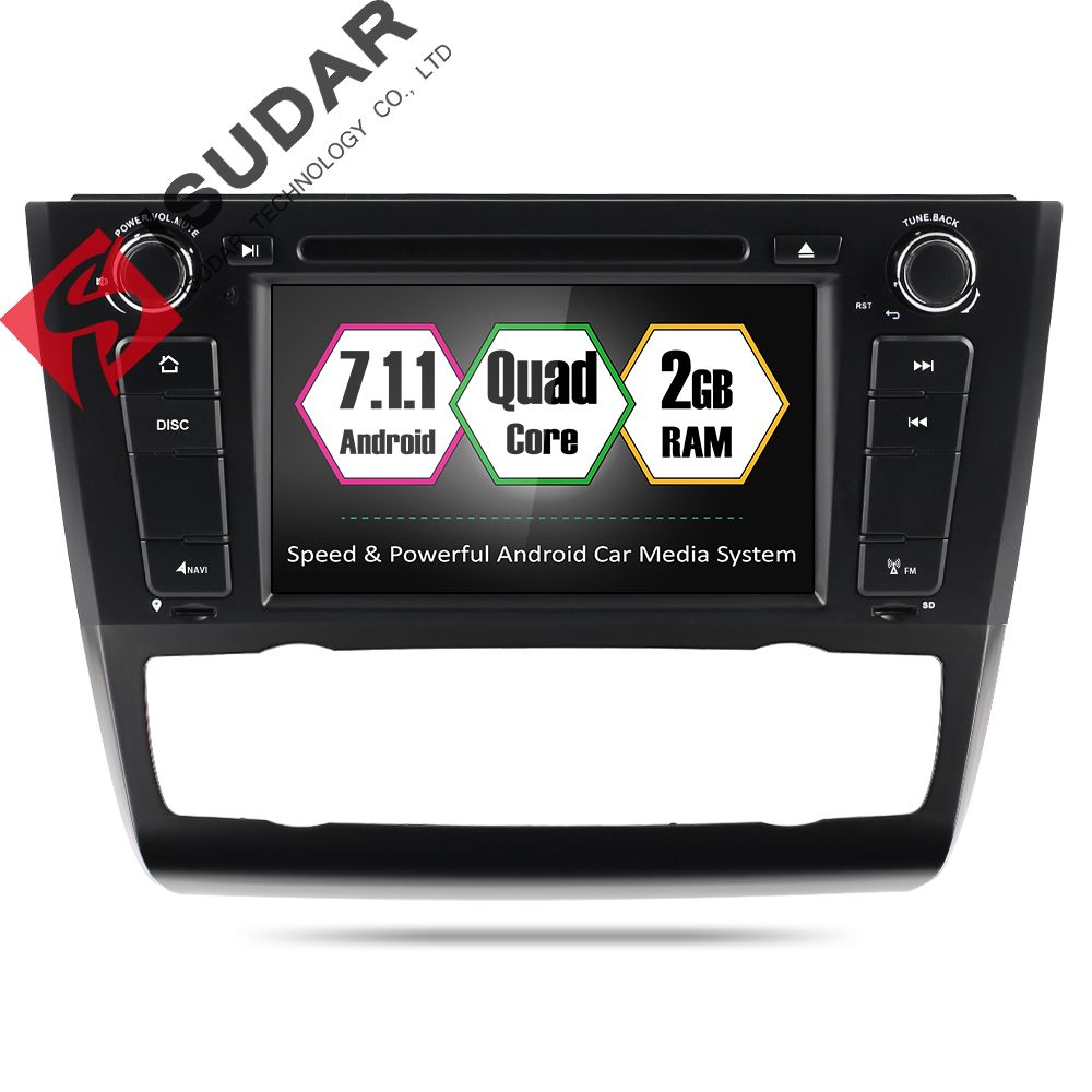 Android 7.1 Two Din 7 Inch Car DVD Player For BMW 1 Series E81/E82/E88 2004-2011 RAM 2G WIFI GPS Navigation Radio FM Maps