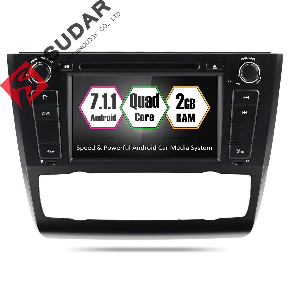 Isudar 1 Din Car Multimedia Player GPS Andorid 7.1 DVD Automotivo For BMW 1 Series E81/E82/E88 2004-2011 DSP Wifi Radio FM 2+16G