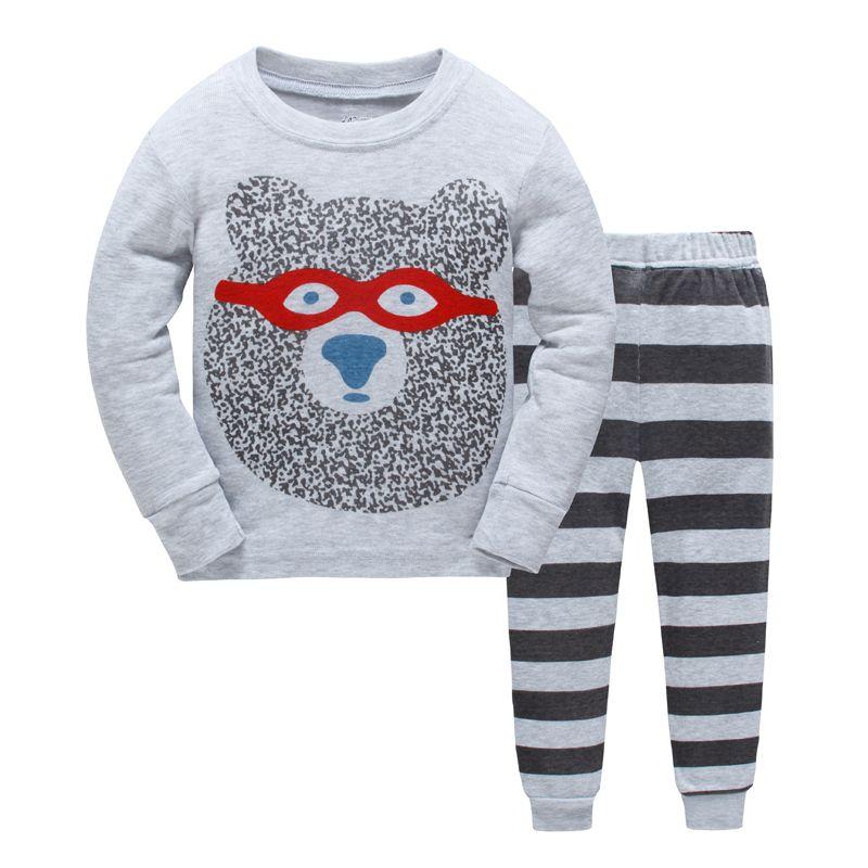 Новые детские пижамы набор мальчиков изображением животного пижамы для девочек милые хлопковые пижамы наборы Дети одежда для сна Семейные ...