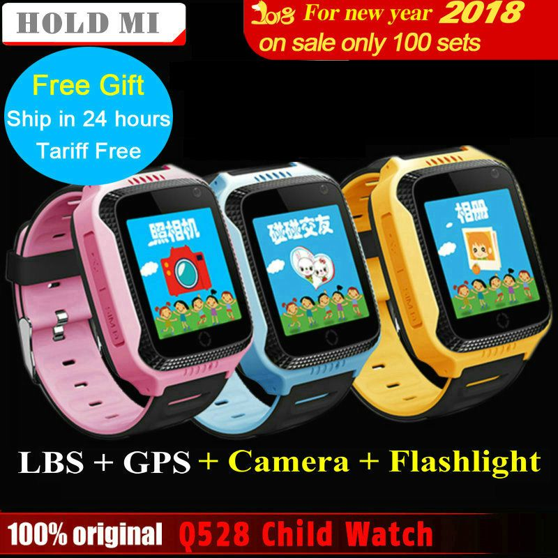 Hold Mi Q528 Y21 Touch <font><b>Screen</b></font> Kids GPS Watch with Camera Lighting Smart Watch Sleep Monitor GPS SOS Baby Watch PK Q60