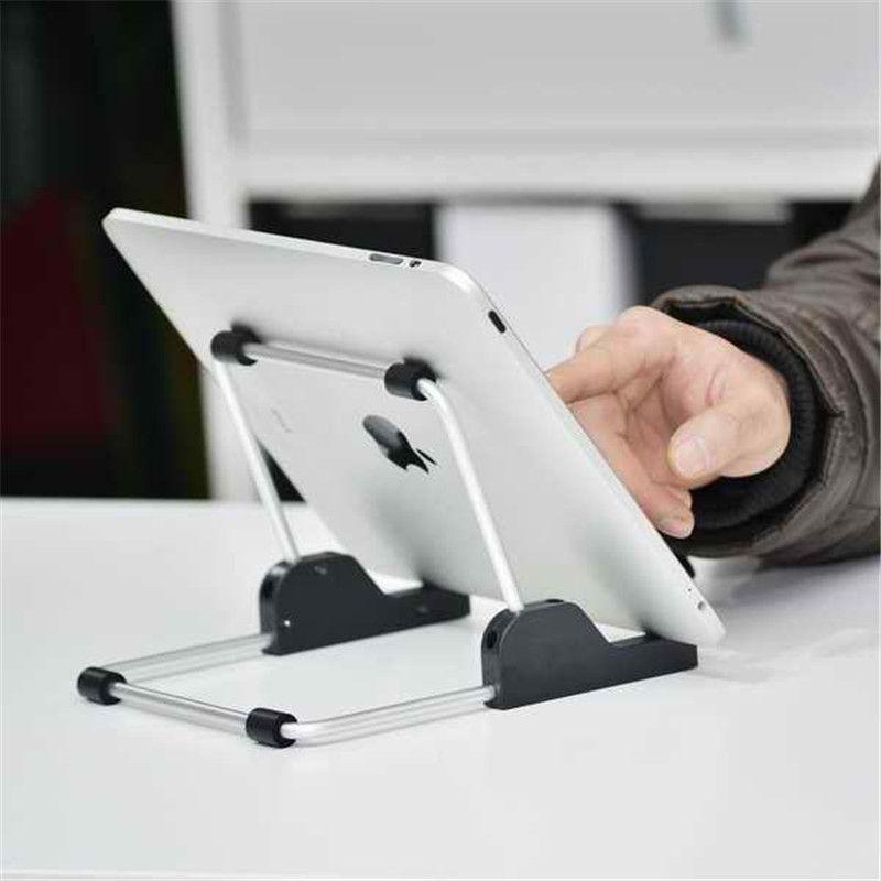 Pour apple ipad support en aluminium pliable universel support de tablette, support pour apple ipad support pour samsung tablette, support de tablette