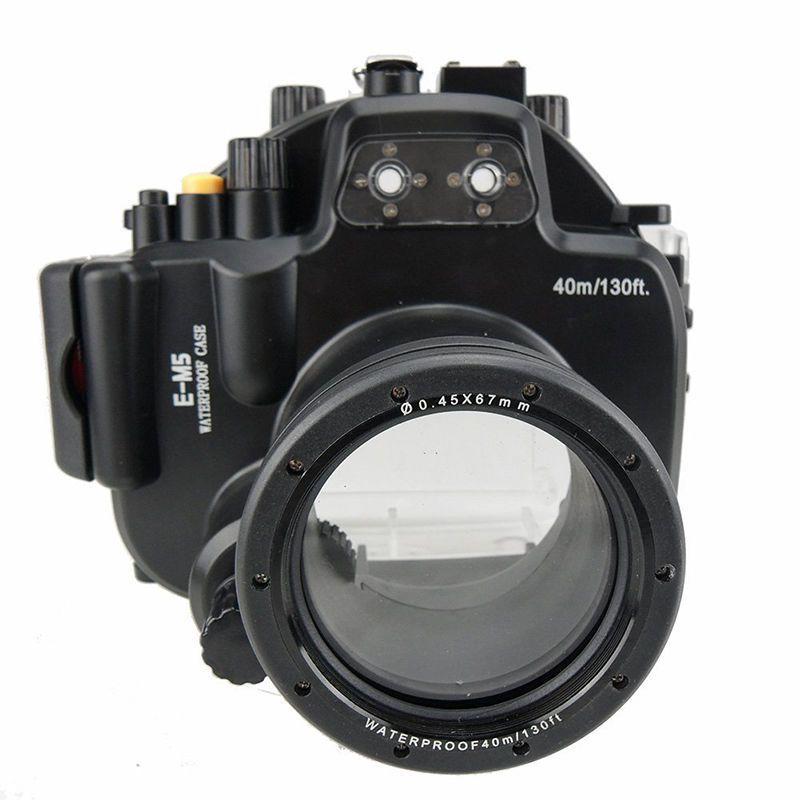 Meikon 40M Waterproof Underwater Camera Housing Diving Case for Olympus E-M5 EM5 (12-50mm) (12-40mm)