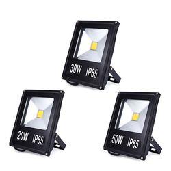 Llevó la luz de inundación 10 W 20 W 30 W 50 W proyector Reflector lámpara de pared impermeable 220 V LED COB chip proyector iluminación al aire libre