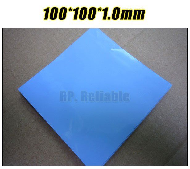 100mm*100mm*1.0mm Thermal Pad /Pads for Chipset IC Laptop /VRAM /Heatsink Cooling /Thermal Conductive  Insulating Blue