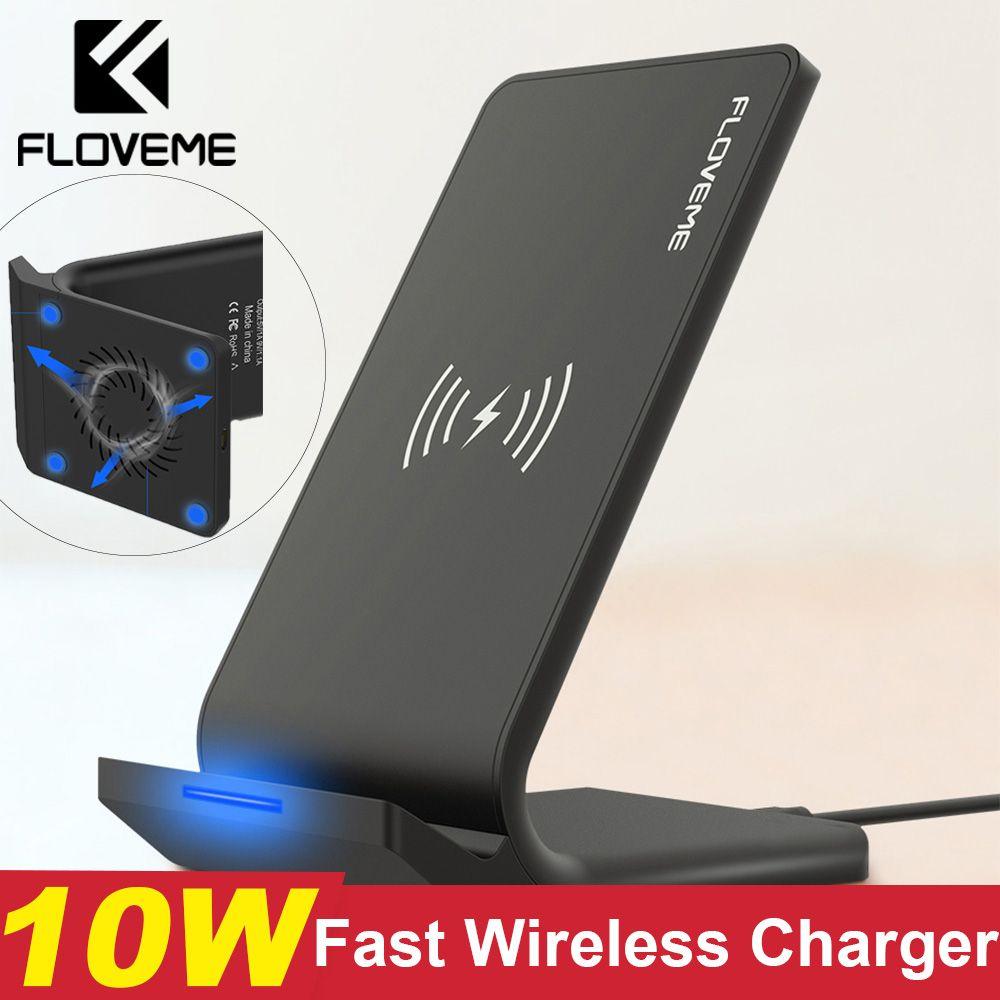 Chargeur sans fil rapide FLOVEME Qi pour iPhone XS Max XR X 10 W chargeur de charge sans fil USB pour iPhone X 8 Plus pour Samsung Note 9
