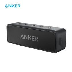 Anker Sound Core 2 Portable Bluetooth Wireless Speaker Bass Yang Lebih Baik 24 Jam Waktu Bermain 66ft Rentang Bluetooth IPX5 Tahan Air