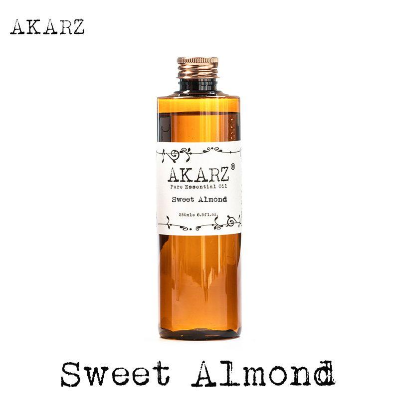 AKARZ marque célèbre huile d'amande douce aromathérapie naturelle haute capacité peau soins du corps massage spa huile essentielle d'amande douce