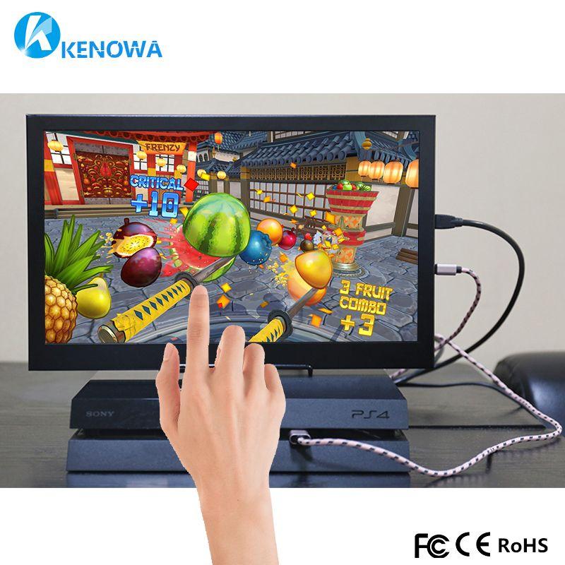 10,1 2 karat Industrielle Sicherheit Überwachung Kapazitive Touch-monitor 12,5mm LCD computer Bildschirm Display mit 2 Mini HDMI 12 v/5 v USB