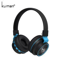 Kuman Sports Headsets Stereo Wireless Headphones HIFI Bluetooth Earphone with 3.5mm Conversion Line For Phone PC Gaming YL-HH6