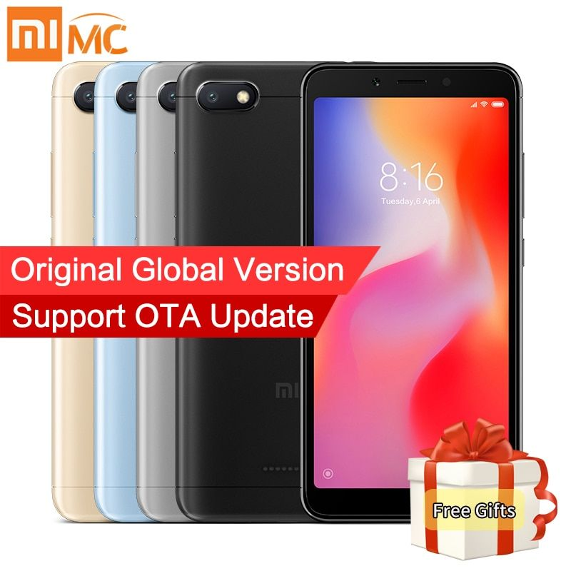 In Stock Global Version Xiaomi Redmi 6A 2GB 16GB Smartphone MTK Helio A22 Quad Core 5.45