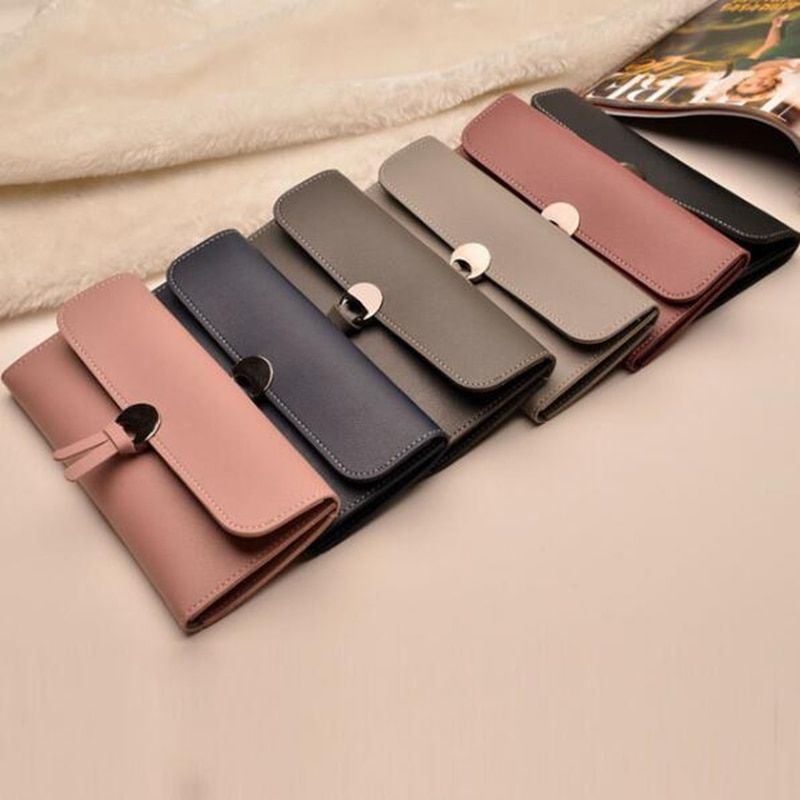 Vintage quality PU Leather Long Fashion Women Wallets Designer Brand Clutch Purse Lady Party Wallet Female Card Holder  LB531
