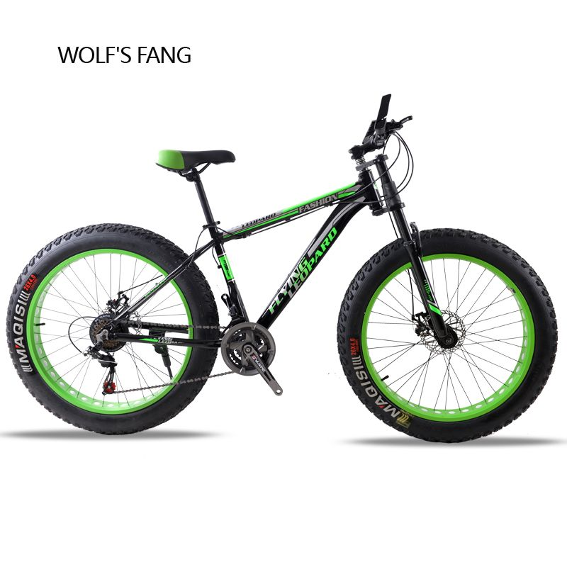 Mountain bike bicycle aluminum <font><b>frame</b></font> 21/24 speed mechanical brakes 26 x 4.0 wheels long fork Fat Bike bicycle road bike fahrrad