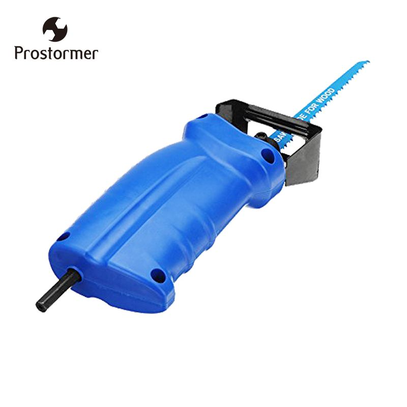 Prostormer Reciprocating saw Metal Cutting wood Cutting Tool electric drill attachment with 3 blades power tool accessories