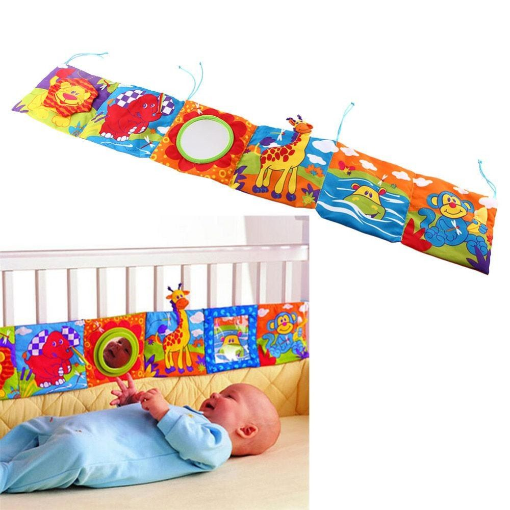 Baby Toys Baby Crib bumper Baby Cloth Book Baby Rattles Knowledge Around Multi-Touch Colorful Bed Bumper for Kids toys 92*14CM
