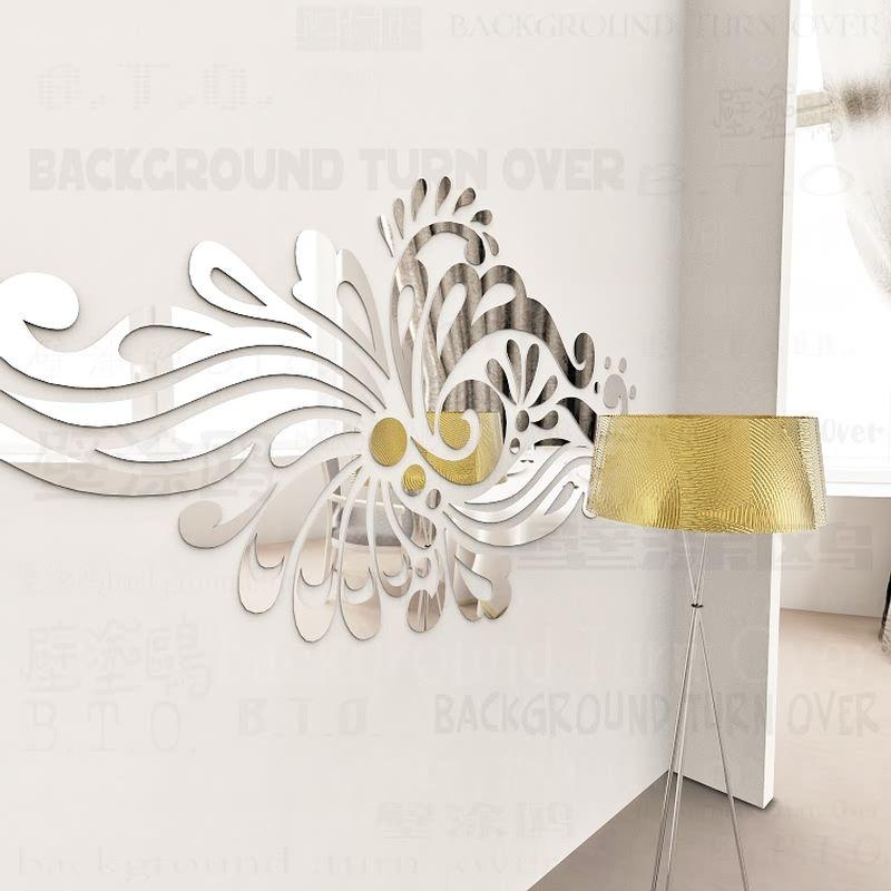 Créatif Bohême Ethnique TOTEM Miroir Acrylique Décoratif Stickers Muraux Maison Salon Chambre Décor Chambre Porte décoration R228