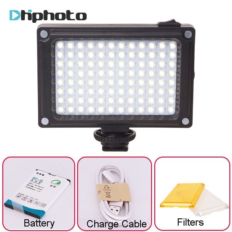 Ulanzi Rechargeable LED Video Light with Battery filters Hotshoe Photo Lighting on Camera for Canon Nikon Sony Camcorder DV DSLR