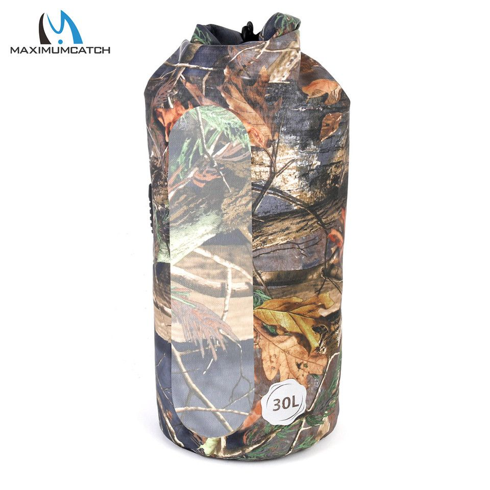 Maximumcatch Waterproof Dry Fishing Bag 30L PVC Material Camo Color Backpack Outdoor Hiking Camping Bag