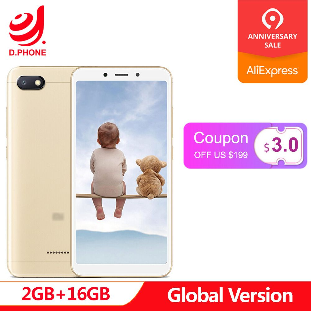 En Stock Original Version mondiale Xiaomi Redmi 6A 2 GB 16 GB 5.45