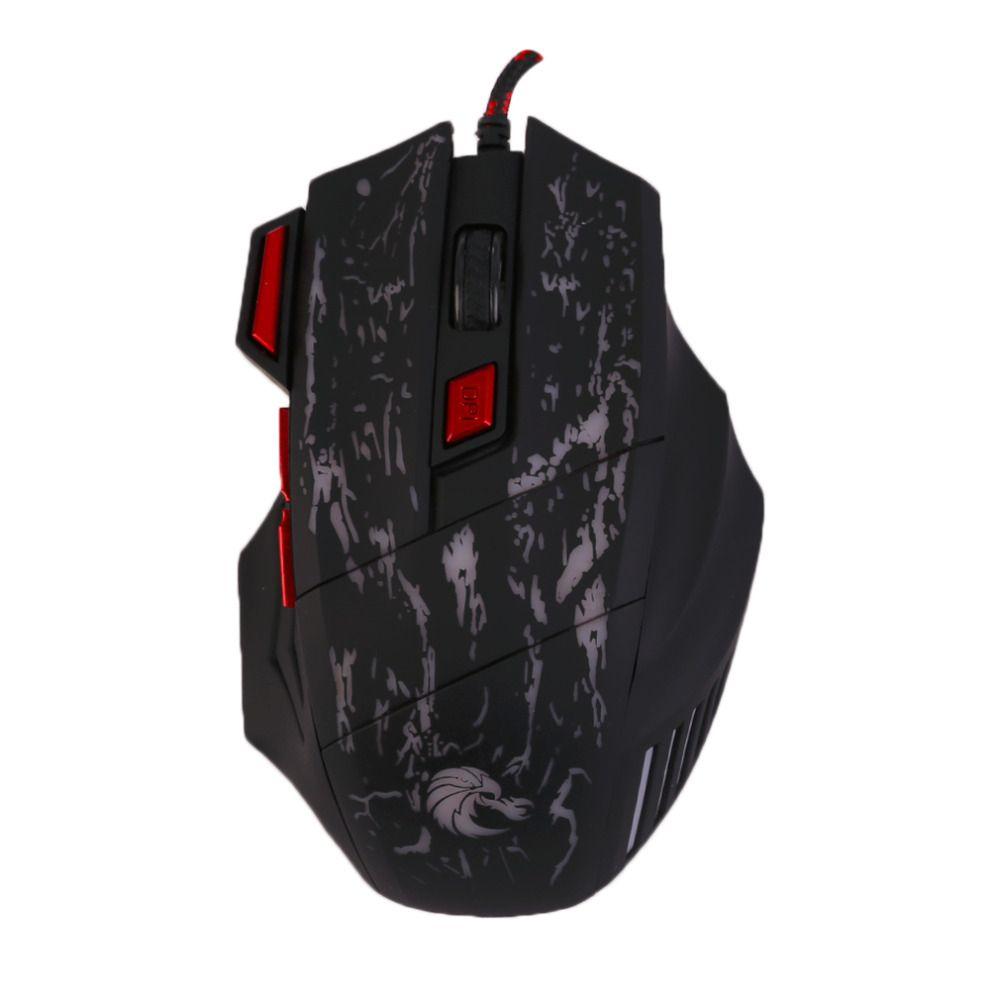 H300 5500 DPI 7 Tasten Bunte Rissmuster Einstellbare Wired Gaming Maus Gamer Für Laptop PC Computer Zubehör