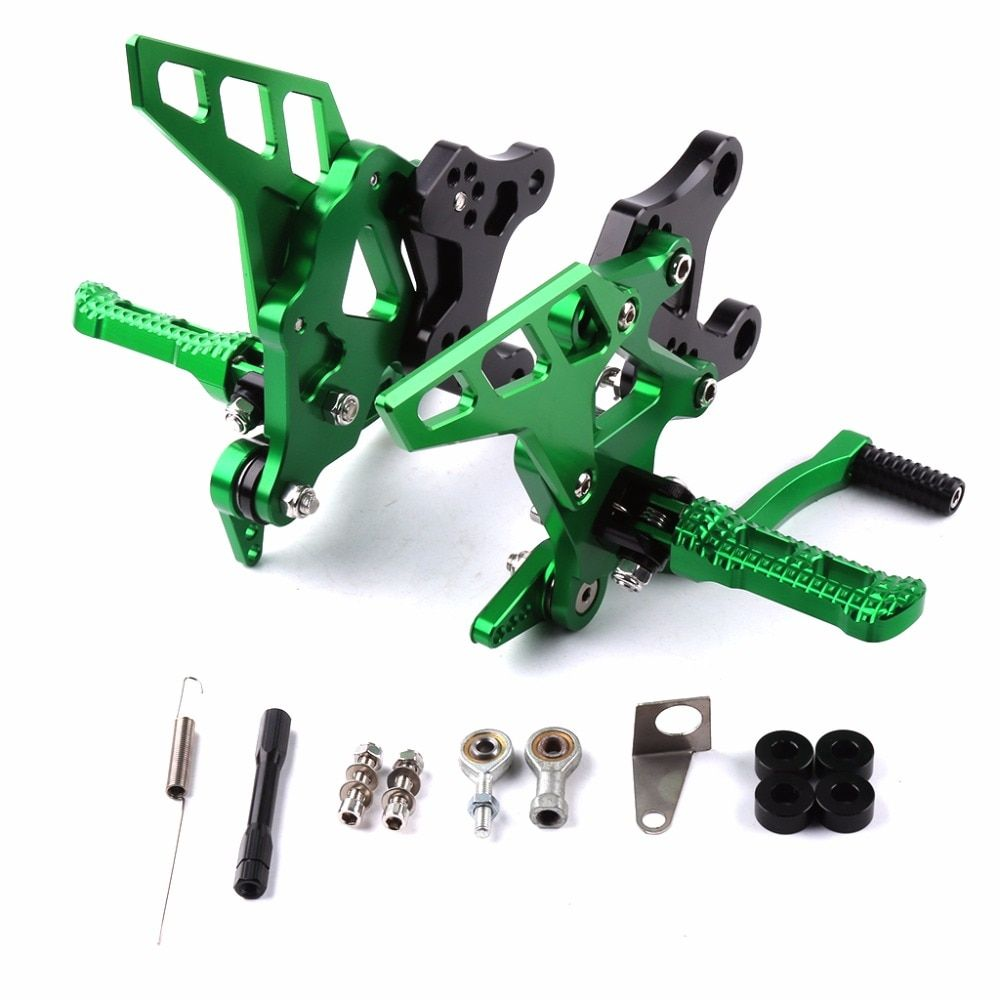 Motorcycle CNC Adjustable Rearset Footrest Moto Rear Set Foot Pegs Rests Pedal Accessories For Kawasaki Z900 Z 900 2017 17