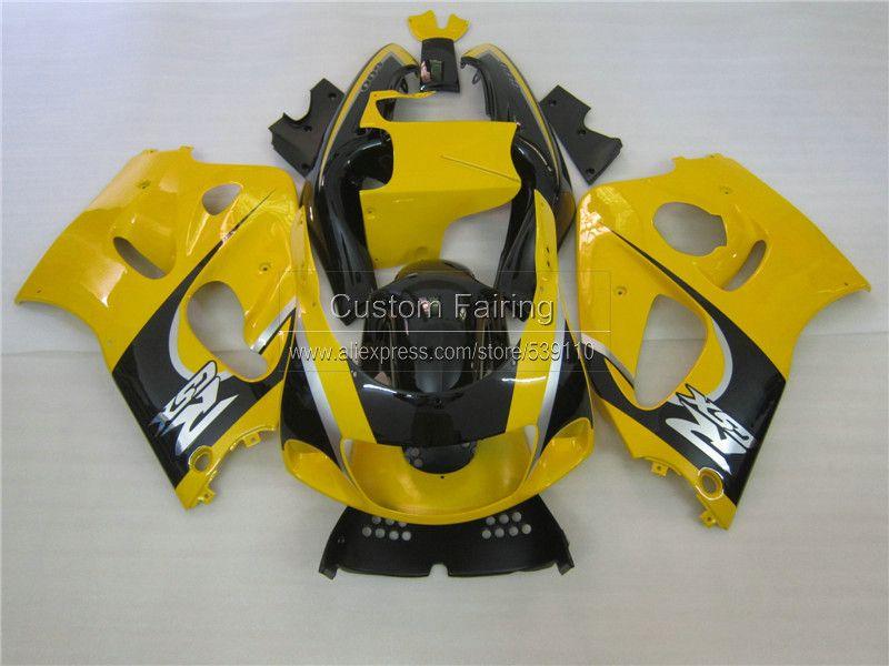 Motorcycle Fairing kit for SUZUKI GSXR 600 750 1996 1997 1998 1999 2000 black yellow GSXR600/750 96-99 00 ABS fairings set ZE14