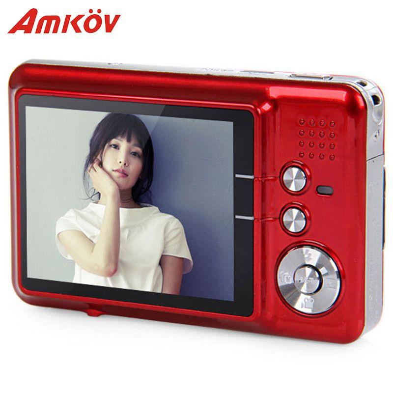 Amkov AMK-CDFE Professionelle Kamera 8mp 2,7 Zoll Aluminium + kunststoff Unterstützung mehrsprachig Mini Tragbare HD Kamera Digitalkamera