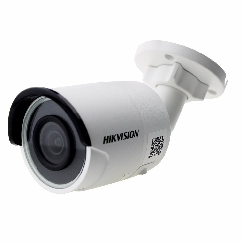 Original Hik English Version DS-2CD2085FWD-I 8MP Network Bullet Camera Support POE H.265+ H.264 IR IP67 cctv camera SD Card Slot