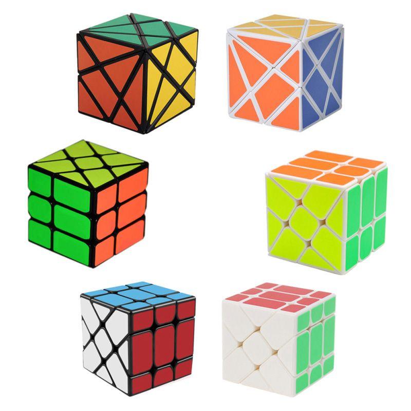 3 pcs/ensemble Magique Cube Ensemble 3x3x3 Fisher Cube & 2x2x2 Vent Roue cube magique et Fluctuation Angle Axe Cube Puzzle Jouet (W0