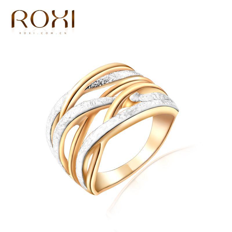 ROXI Top-marke Luxus Ring Für Frauen Neue Gold Farbe einzigartige 3 Runde Ringe Eleganten Frauen Hochzeit Brautschmuck Ringen
