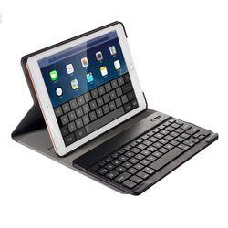 Para el iPad 9,7 2017 2018/Pro 9,7/iPad aire 1 y 2 desmontable teclado inalámbrico Bluetooth + Delgado inteligente Folio PU Funda de cuero
