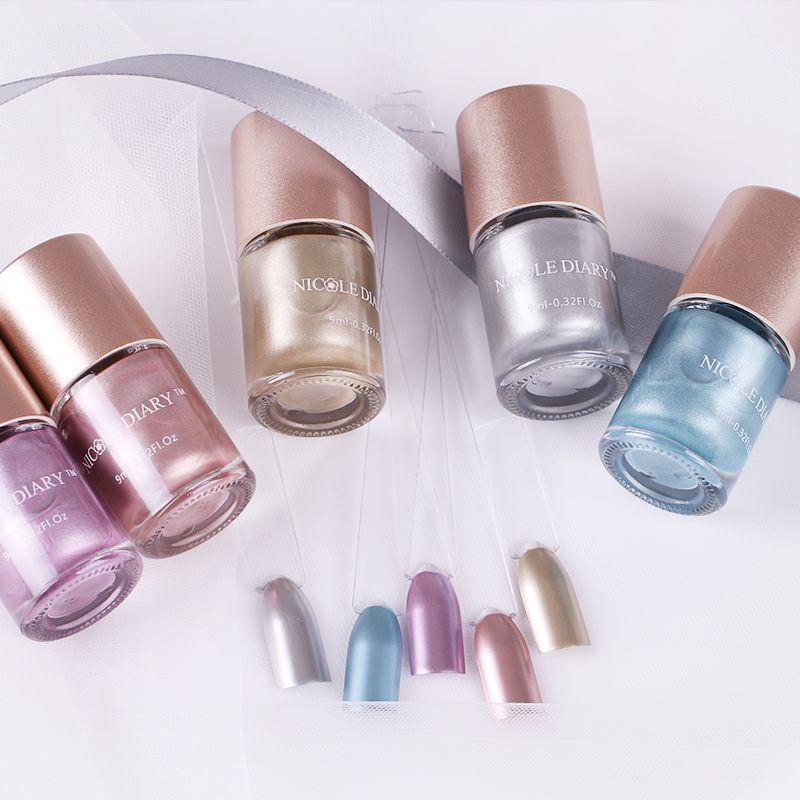 Николь дневник металлик Лаки для ногтей зеркальный эффект лак Лаки блестящий металл 5 цветов розового золота спрей nagellak Vernis а Ongle