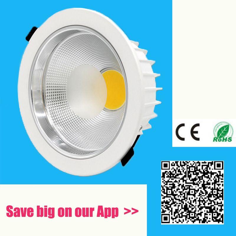 5 w 7 w 10 w 12 w 15 w 20 w 30 w 60 w 100 w IP44 LED COB downlight Dimmable Encastré LED Plafond Lampe Spot Light Blanc/chaud led lampe cree
