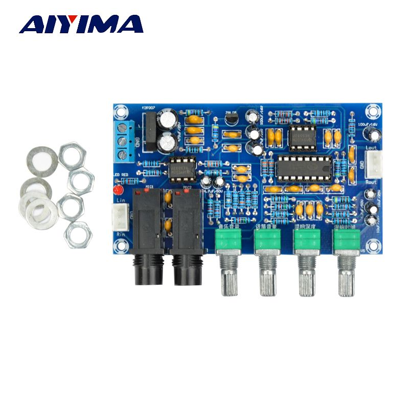 Aiyima PT2399 Digital Microphone Amplifier Board Karaoke Reverberation Board Karaoke OK Amplifier Module Dual AC12V