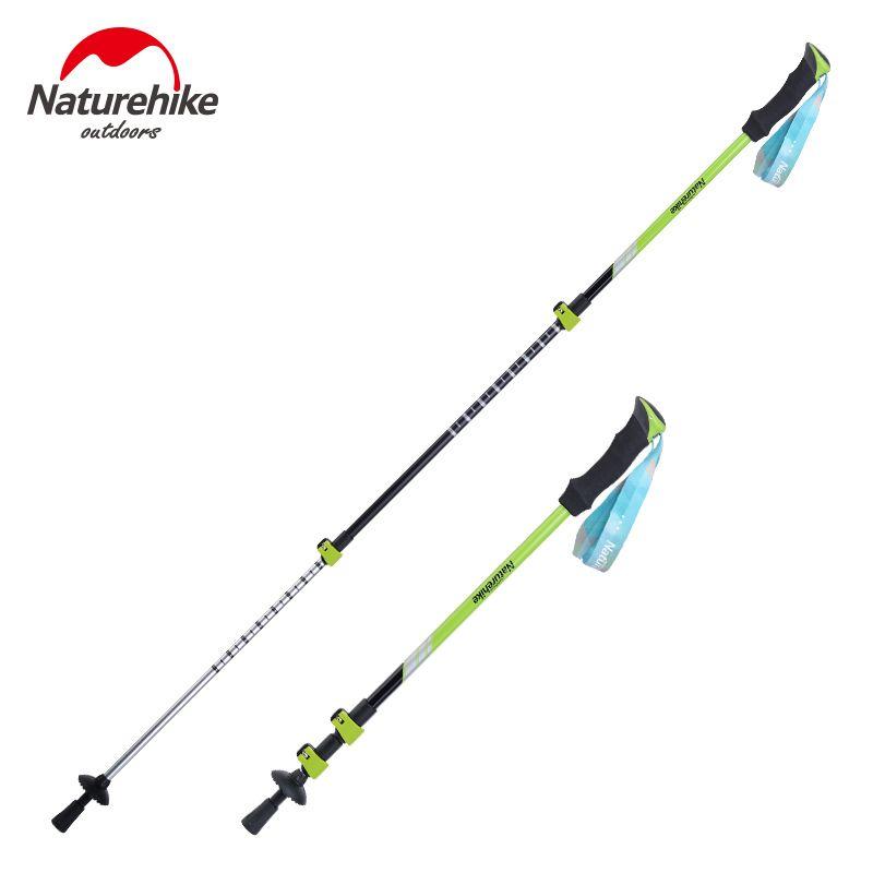 Naturehike Aluminum alloy walking sticks camping hiking Alpenstocks Trekking Pole Ultralight Hiking Cane Couple 2 colors
