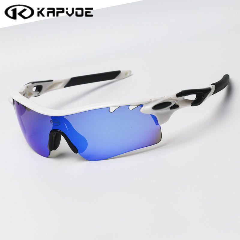 Kapvoe Polarized Cycling sunglasses Bicycle Running Fishing sport Cycling glasses <font><b>bicicleta</b></font> Gafas ciclismo Cycling Eyewear 4 Len