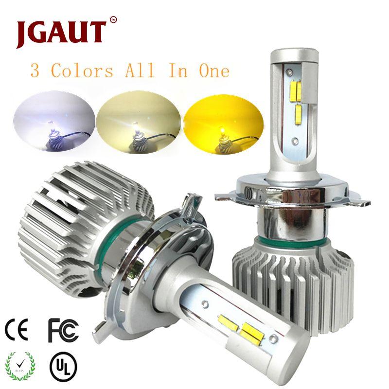 JGAUT Car LED Light Headlamp H7 H4 LED Bulb H1 H3 H8 H11 9005 9006 880 9012 3Colors Headlight Kit 3000K 4300K 6000K 9600LM Dual