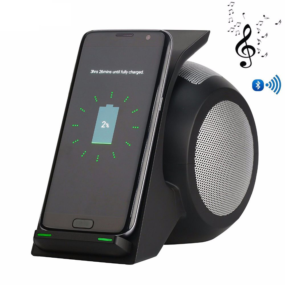 Bluetooth Haut-Parleur Sans Fil Chargeur Pour iPhone XR XS Max Compagnon 20 Pro Rapide Sans Fil De Charge Pour Samsung Galaxy Note 9 s9 S9 Plus