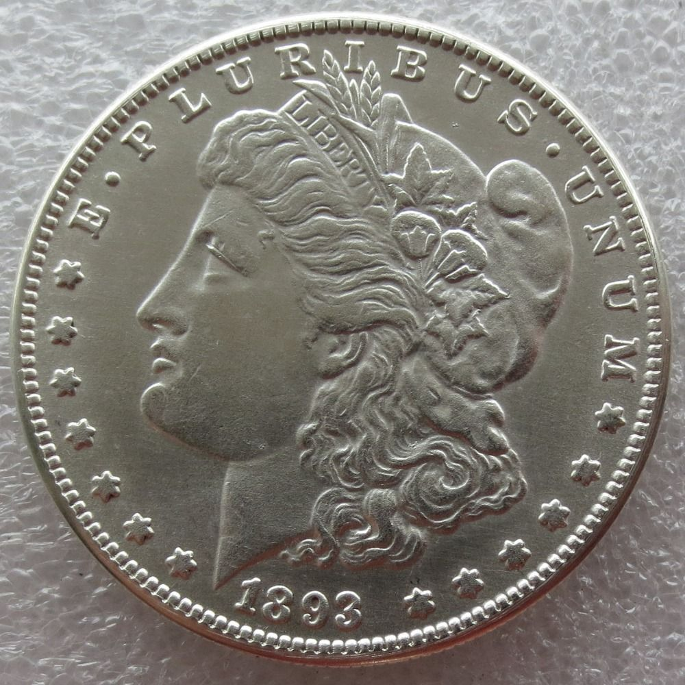 90% Silver Date 1893 - CC Morgan Dollar Copy Coin Weight 26.70-26.73 Grams Make New Or Old Free Shipping