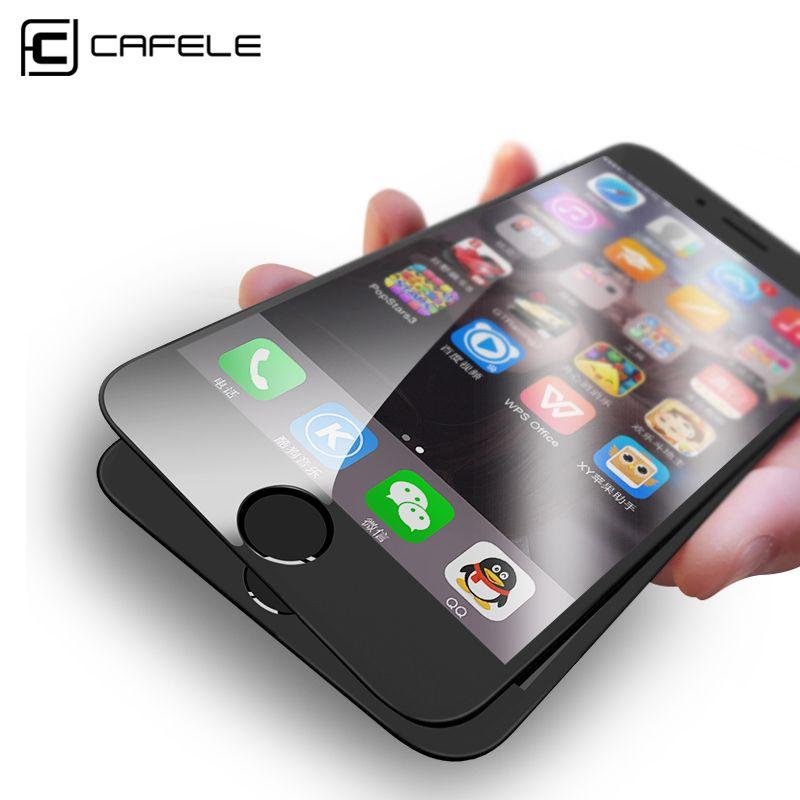 CAFELE 4D Bord Incurvé En Verre Trempé pour iPhone 6 s 7 plus En Verre Pleine Couverture De Protection 4D Écran Protecteur pour iPhone 6 7 Plus