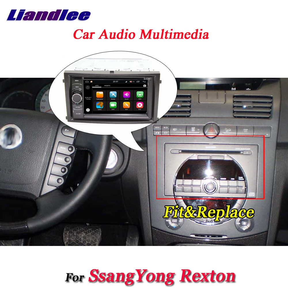 Liandlee Car Android 8.0 System For SsangYong Rexton Radio DVD Player Frame USB AUX GPS Navi MAP Navigation HD Screen Multimedia